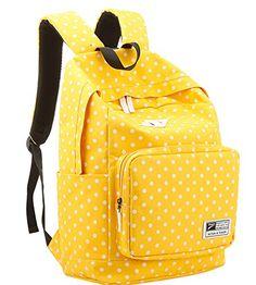 b3c2ffc8103b Amazon.com  Korean Polka Dot School Backpack Rucksack Laptop Book Shoulder Bag  Travel Knapsack  Arts