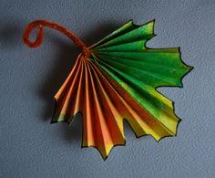 Осенние поделки: кленовый лист