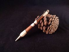 Wooden Slice pen Gold/wooden segmented pen gold   Etsy Egg Shop, Wooden Slices, American Walnut, Linseed Oil, Shellac, Teak, Craft Supplies, Plating, Shapes