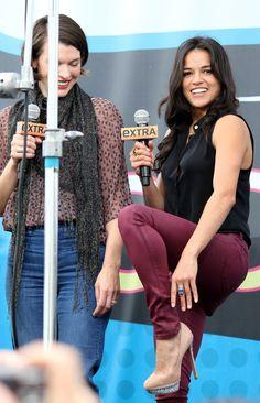 Michelle Rodriguez and Milla Jovovich at San Diego Comic-Con
