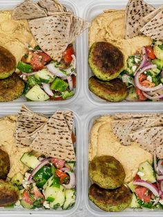 Sunday Meal Prep: Falafel and Hummus Box. Falafel and Hummus Meal Prep. This Falafel and Hummus Box meal prep is packed with fresh herbs and spices, leaves very little leftover ingredients, and makes a great cold lunch! Sunday Meal Prep, Lunch Meal Prep, Meal Prep For The Week, Budget Meal Prep, Budget Cooking, Budget Meals For A Week, Meal Prep Menu, Healthy Recipes, Veggie Recipes