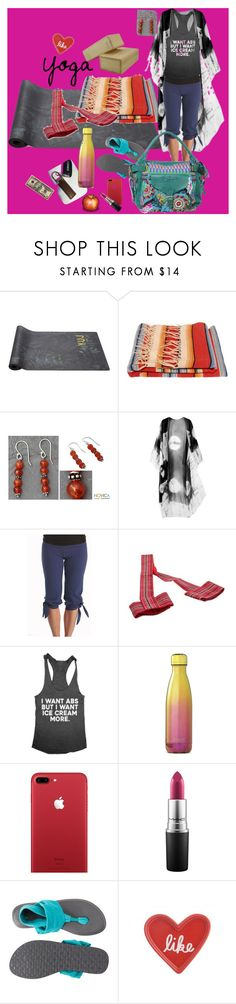 """Yoga Style"" by billiej-712 ❤ liked on Polyvore featuring NOVICA, MAC Cosmetics, sanuk, Fishs Eddy and Desigual"