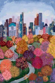 Seasons of NYC - Autumn in the Park No. 1 — Joy Laforme
