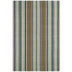 Dash & Albert 'Blue Heron' Stripe Cotton Rug.