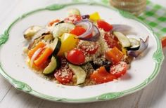 280 calories/7g fat per portionIt's not just a side, couscous can be turned into a meal in itself. Combine with whatever roasted veg you like and a simple stock and voila - a low-cal dinner ready in mins! Get the recipe: Roasted vegetable couscous
