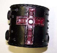 Eastern Oregon Leather Co. - Item 092512 - True Blood Leather Wrist Cuff with Buckles, $43.95 (http://www.easternoregonleather.com/item-092512-true-blood-leather-wrist-cuff-snyder-style/)