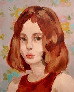 Untitled Portrait, 2017, Oil paint on Duralar by Rachel Gregor