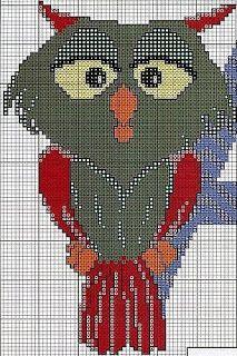 Cross Stitch *<3* hibou