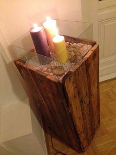 Pallet lantern / Side Cabinet