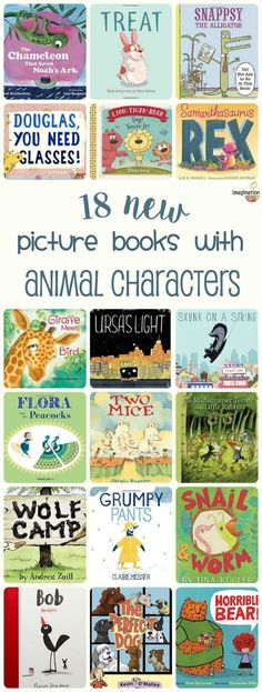 fun, new picture books starring animal characters, 2016