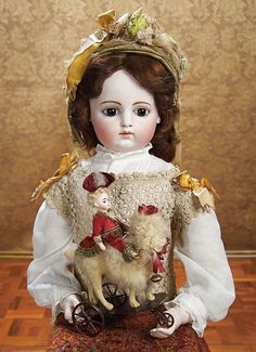 Rare and Fine Premiere Model French Bisque Bebe by Gaultier with Bisque Hands. Circa 1878. http://Theriaults.com