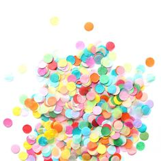 This is the best confetti ever. 1. It's the perfect size. 2. We hand picked every color. 3. It's really affordable so you don't have to be precious with it. Big announcement: If you haven't seen it the Oh Happy Day party shop just got a makeover and a million new shipments in! Shop.ohhappyday.com  Check it out!