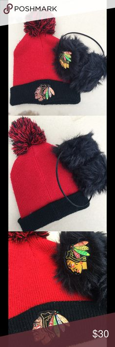 Blackhawks for HIM & HER Accessories Universal Fit. Super cute for Blackhawk fans or couples Blackhawks Accessories Hats
