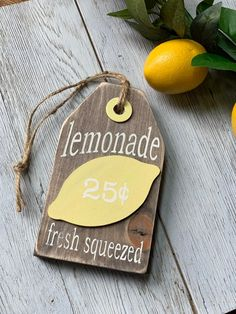 How To Chippy Paint Without Sanding Lemon Crafts, Lemonade Sign, Lemon Kitchen Decor, Wooden Tags, Wooden Blocks, Country Farmhouse Decor, Diy And Crafts, Summer Crafts, Tree Crafts