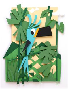 My new paper bird - kmiep illustrations
