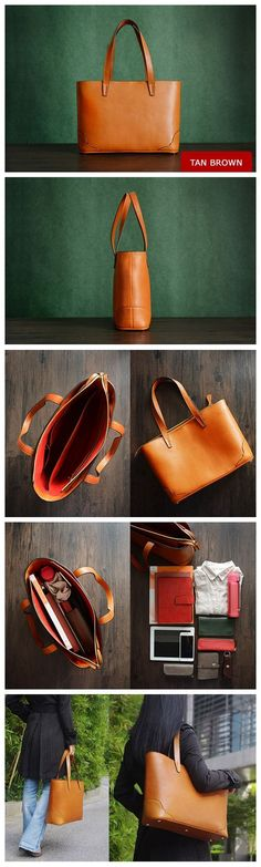 Custom Handmade Italian Vegetable Tanned Leather Tote Bag, Shoulder Bag, Lady Handbag