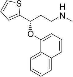 Duloxetine (Cymbalta, Ariclaim, Xeristar, Yentreve, Duzela) is a serotonin-norepinephrine reuptake inhibitor (SNRI)