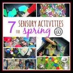 7 Sensory Bins for Spring