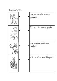 Caaco dos 1314_mt117_r1_comprensio_lectora_1_provisional Maila, Valencia, Pre School, Math Equations, Teaching, Education, Marcel, Writing, Teaching Reading Strategies