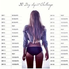 30 day squat workout
