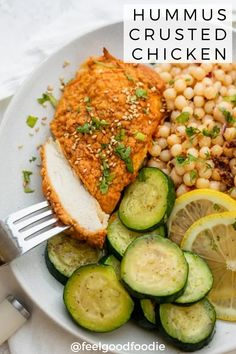 This oven baked Hummus Crusted Chicken is great for an easy to prep weeknight meal. Get perfectly juicy chicken breast loaded with flavor every single time! Hummus Crusted Chicken, Oven Baked Chicken, Baked Chicken Breast, Single Chicken Breast Recipe, Easy Family Meals, Easy Weeknight Meals, Easy Dinners, Easy Chicken Dinner Recipes, Recipes Dinner