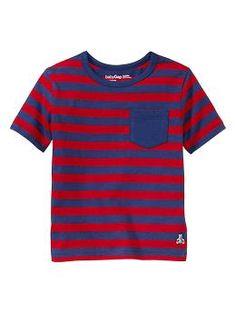 Striped pocket T | Gap  love the contrast pocket!