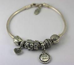 #Pandora Sterling #Silver Bracelet 7 Charms Retired #Love Mom #Family Heart CZ #Jewelry #Fashion http://www.ebay.com/itm/-/401193801416?roken=cUgayN&soutkn=XYFfVv via @eBay