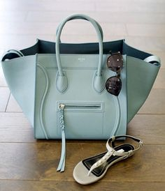 celine tote (beautiful pastel colour) and valentino sandals. #perfectpairings #shoeporn #bagporn