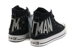 Batman logo Converse high tops