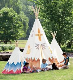 Cotton Canvas Teepee with Wooden Poles this is the one we have @ Natalie B! Teepee Play Tent, Teepee Kids, Teepees, Forts, Little Tikes Playhouse, Canvas Teepee, Childrens Teepee, Backyard Camping, Backyard Landscaping