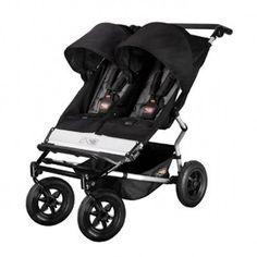 $499 Mountain-Buggy-2012-Duet-Double-Stroller-Black-Flint