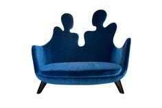 Vincent Darré a dessiné ces magnifiques Chaises et Fauteuils Conversation qui seront exposés à la galerie du passage à partir du 20 mars. Le tissu utilisé est Teddy de la Maison Pierre Frey.