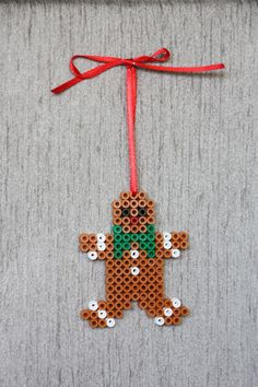 Gingerbread Man perler beads