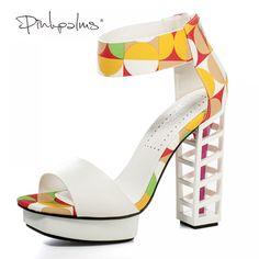 9b751ef42e139 Pink Palms women summer shoes ladies metallic platform shoes sexy high heel  sandals party women platform. Fashion s Admire