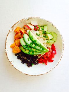 Grain/Legume/Veggie Bowl | 27 Things That Real Healthy People Actually Eat For Lunch