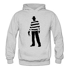 MARC Womens Nightmare On Elm Street Freddy Krueger Pizza Hoodie Ash Size XL >>> More info could be found at the image url.  This link participates in Amazon Service LLC Associates Program, a program designed to let participant earn advertising fees by advertising and linking to Amazon.com.
