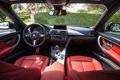 Thank you Jesus for these Coral Red BMW seats. AMEN.