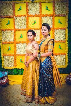 Indian Bridal Shower Grooms New Ideas Wedding Hall Decorations, Wedding Reception Backdrop, Marriage Decoration, Wedding Mandap, Saree Wedding, Backdrop Decorations, Garland Wedding, Backdrops, South Indian Bride