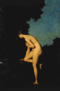 La Fontaine, Jean Jacques Henner, 1880, Oil on canvas, Musee Henner Paris.