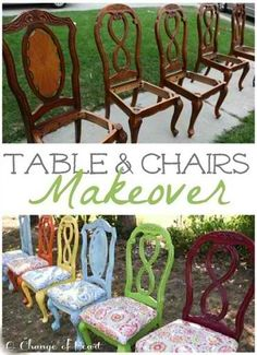 Fun+Kitchen+Table+and+Chairs+Makeover