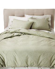 Target : Threshold™ Chambray Duvet Set - Green : Image Zoom