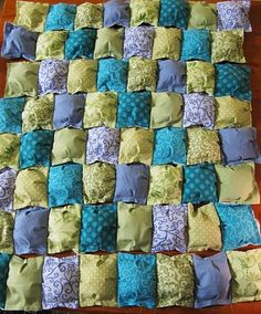 This looks so comfy and easy, Puff Quilt tutorial @Karen Jacot Jacot Grube.