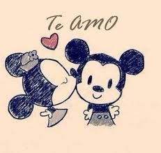 Mickey Mouse and Minnie Mouse Cute Drawings Tumblr, Cute Drawings Of Love, Simple Drawings, Love Doodles, Disney Love, Disney Art, Disney Couples, Disney Mickey, Doodles Bonitos