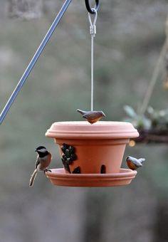 vogelfutterhaus vogelhaus untertassen blumentopf