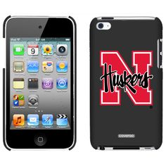 University of Nebraska N Huskers Schools design on iPod Touch Snap-On Case by Coveroo in Black