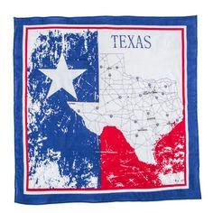 "Texas Map Bandana - 22"" x 22"""