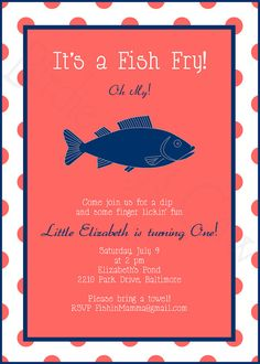 Fish fry first birthday?  Yes please.