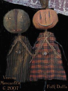 Veenas Mercantile Primitive Doll Patterns by Kim Kohler