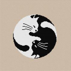 Yin Yang Cat Cross Stitch Pattern PDF | Craftsy                                                                                                                                                                                 More