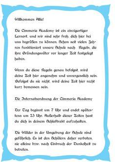 Cimmeria Regel - Teil 1